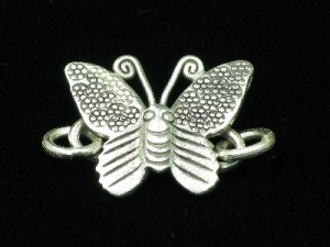 Thai hill tribe silver butterfly clasp