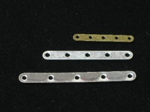 Spacer bar 5 hole silver plated