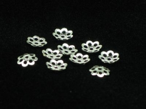flower bead caps 5mm