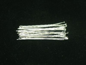 """silver plated headpins 1.5"""""""
