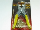 Eyelet pliers with eyelets