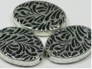 acrylic flat patterned oval