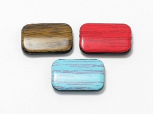 Resin rectangle wood effect