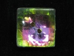 square vitrail button