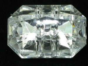 rectangle crystal button