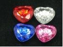 acrylic crystal heart buttons