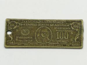100 dollar bill charm