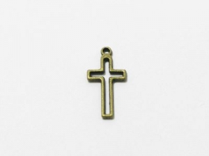 Crucifix outline charm