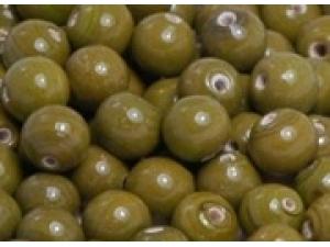 olive opaque 8mm round