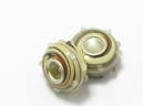 Metal core bead  cream/brown marble swirl