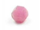 Pink faceted round