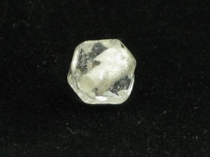 Clear faceted round
