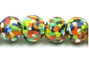 Multi-coloured dots round strand