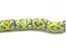 blue tube yellow criss-cross strand