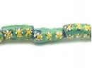 blue tube green/yellow criss-cross strand