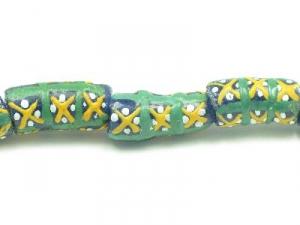 blue tube green/yellow criss-cross