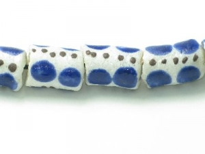 white with blue spot tube