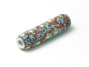 Tube red/blue multi dots
