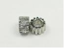 silver cog bead