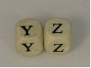 Beads Y - Z 10x10mm