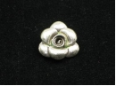 Thai hill tribe silver rose charm