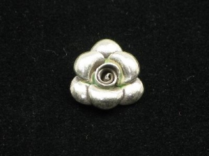 Thai hill tribe silver rose charm