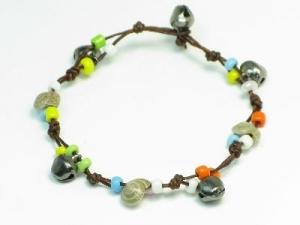 Shell/bell multicolour beads 19cm length