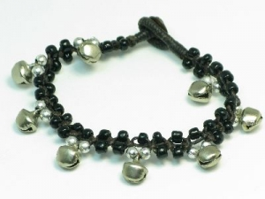 Black/silver bell 19cm length