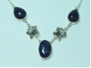 Sterling Silver Amethyst necklace with butterfly detail 19""