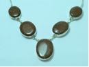 """Sterling Silver Goldstone necklace 19"""""""