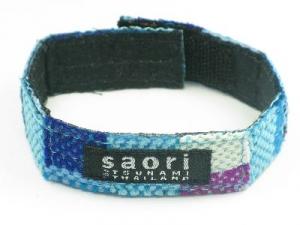 Blue wrist-band