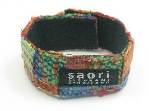 Multi coloured wide wrist-band