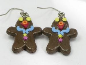 Gingerbread man blue collar