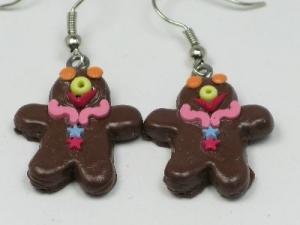 Gingerbread man pink collar