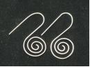 sterling silver flat spiral earring
