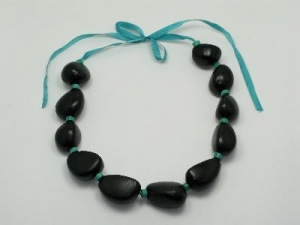 Tagua and turquoise