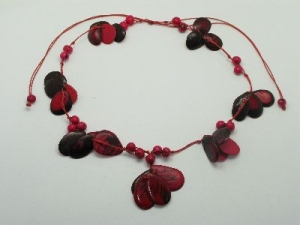 tagua pink slice necklace